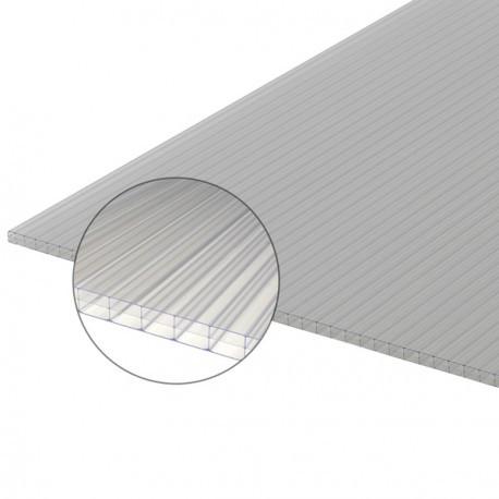 plaque de polycarbonate 4 mètres en 16 mm clair