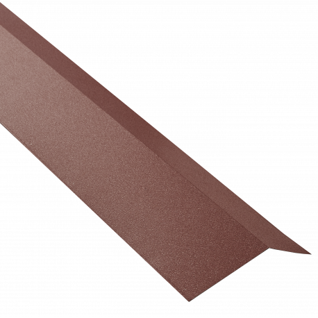 bris de gouttière pour plaque acier galvanisé laqué mat aspect tuile