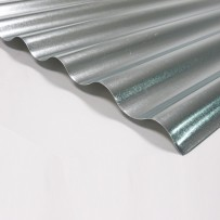 Galvanised steel sheet with small corrugations