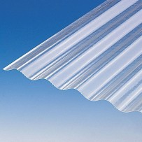 Translucent corrugated polyester roof sheet (PO 76/18 - small corrugations)