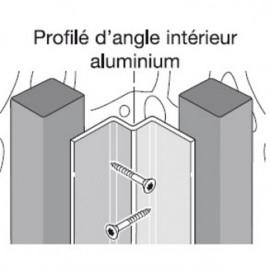 Profil d'angle alu intérieur pour bardage