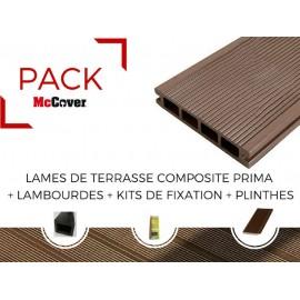 PACK 1 m² lame de terrasse composite Prima ACCESSOIRES (3 coloris) 2200mm