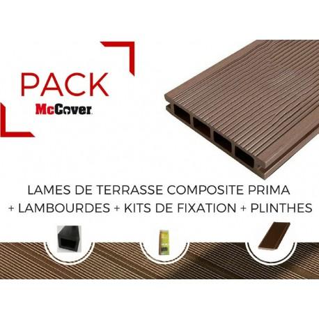 PACK Lame de terrasse composite Prima ACCESSOIRES (3 coloris)