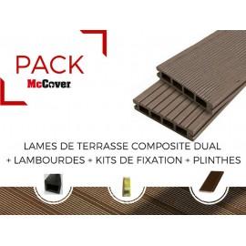 PACK lame de terrasse composite Dual ACCESSOIRES (4 coloris) 2400mm