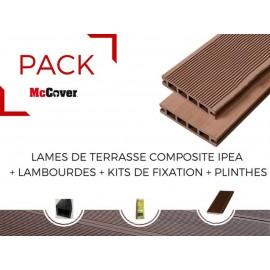 PACK 1 m² lame de terrasse composite Ipéa ACCESSOIRES (4 coloris) 3600mm