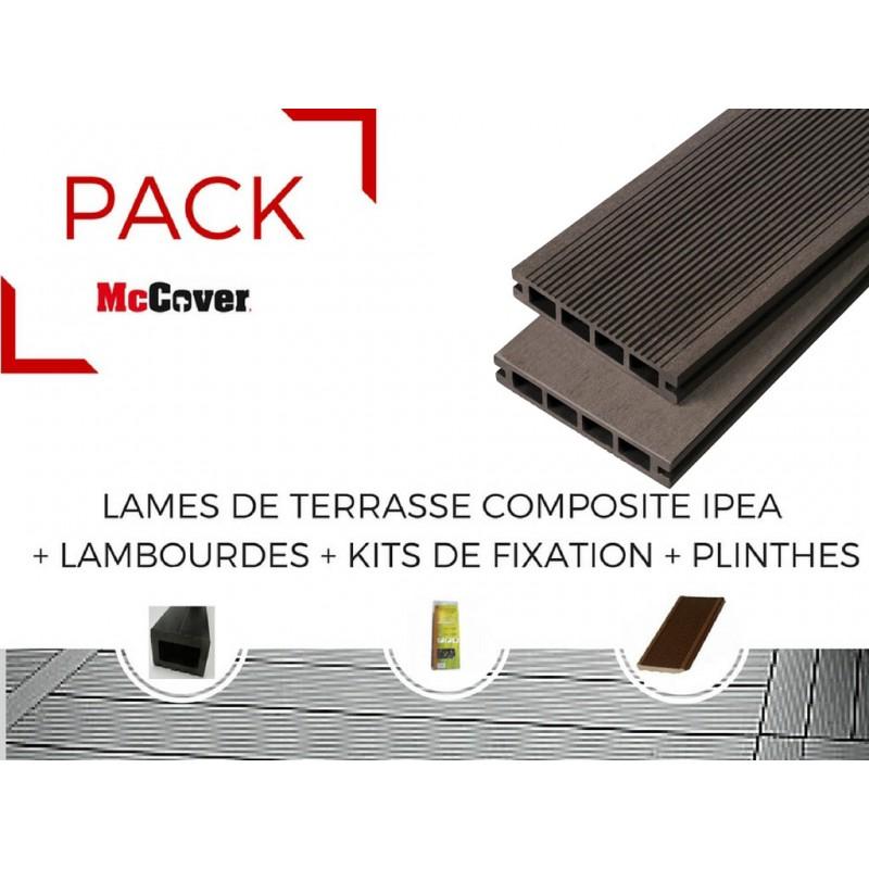 pack 1 m lame de terrasse composite ip a accessoires 4. Black Bedroom Furniture Sets. Home Design Ideas