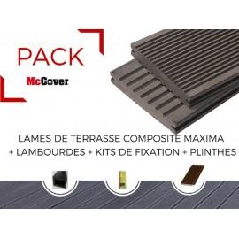 PACK lame de terrasse composite Maxima ACCESSOIRES (3 coloris)