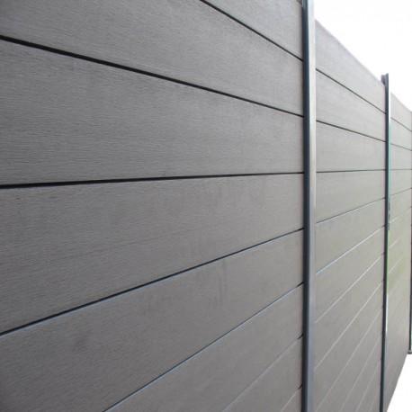 économiser 4e9bb 339d7 Lame de clôture bois composite L 148 cm / l 15.6 cm / E 19 ...