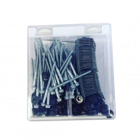Kit de fixation pour bac acier 1045 vis l 100 x diam 6 mm for Fixation faitiere bac acier