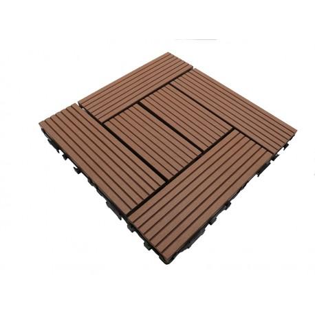 pack dalle de terrasse 1m bois composite classic 11 pi ces 30 x 30 cm mccover. Black Bedroom Furniture Sets. Home Design Ideas