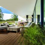 terrasse extérieur bois composite coloris ambre