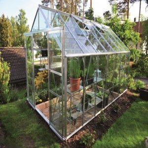 serre de verre synthétique extérieur
