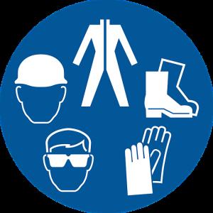 pictogrammes équipement sécurité travail