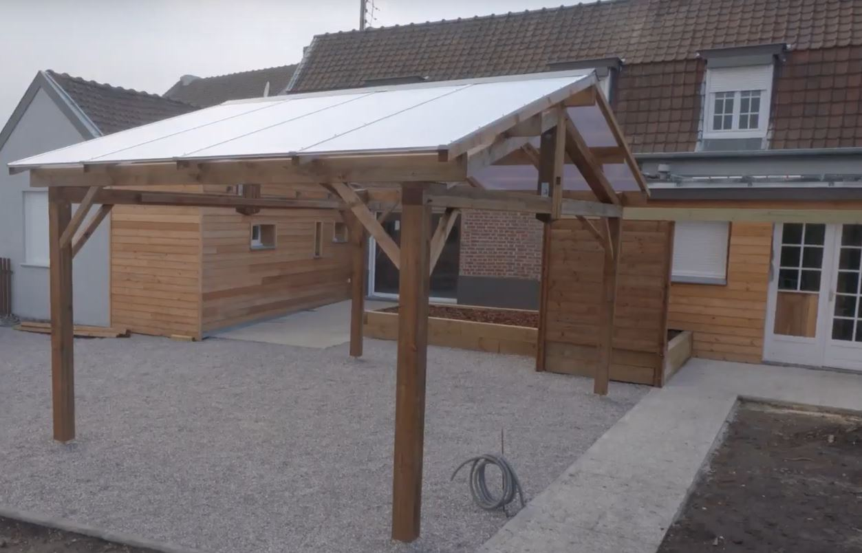 Carport en polycarbonate