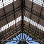 couverture industrielle bac acier avec puit de lumière