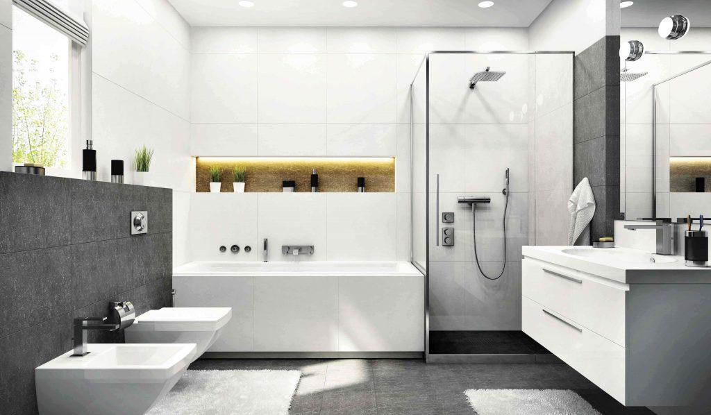 Dalles sol SPC en béton ciré pour salle de bain