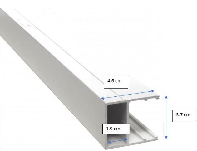 Profilé de bordure monobloc pour polycarbonate 32 mm blanc
